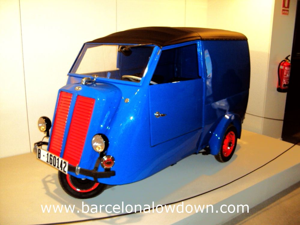 "My personal favourite, the cute blue and red ""Delfin"" Microvan, MHUBA Barcelona"