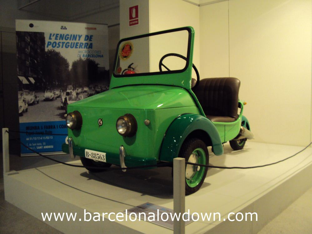 Another cute microcar. MUHBA museum Barcelona