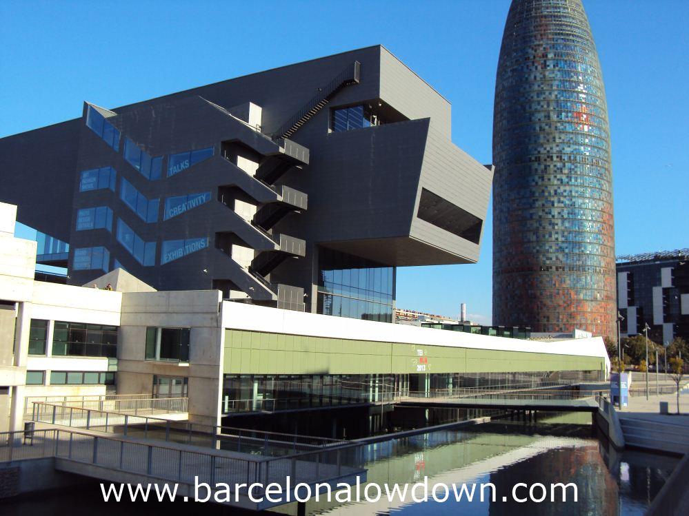 "The stunning new ""disseny hub"" Barcelona and the famous Agbar Tower"