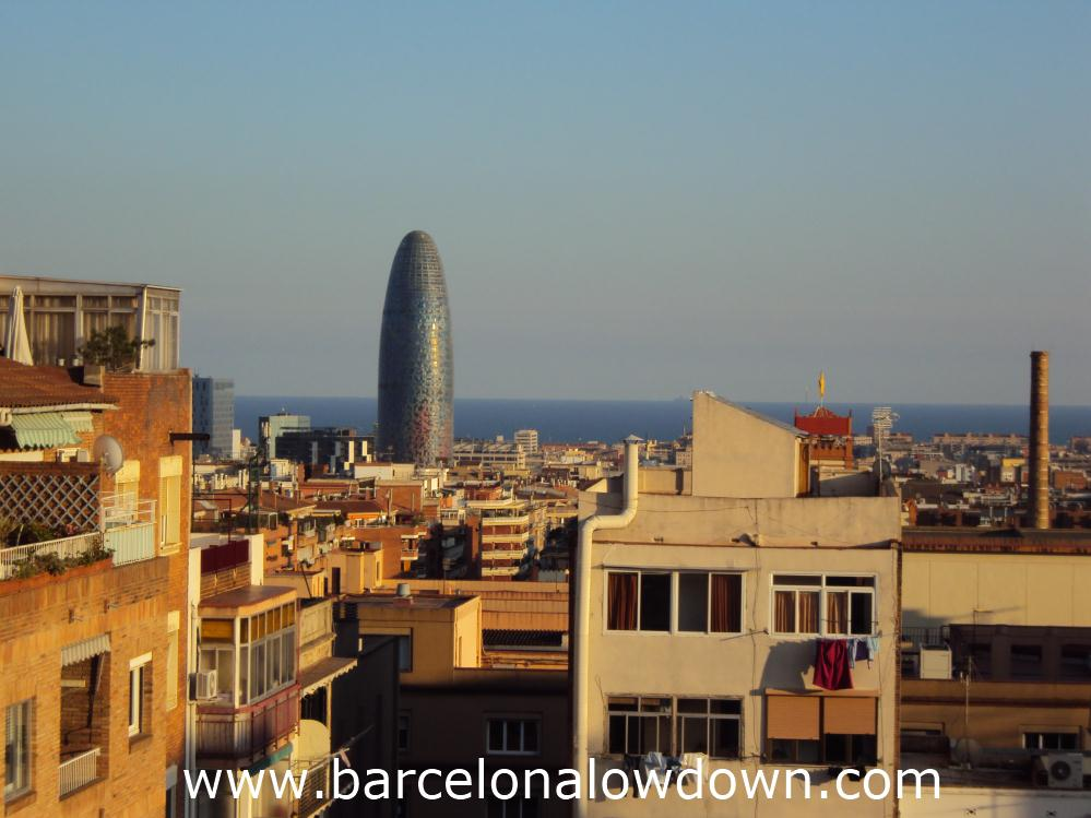 Daytime View Across the Rooftops from the Eixample District