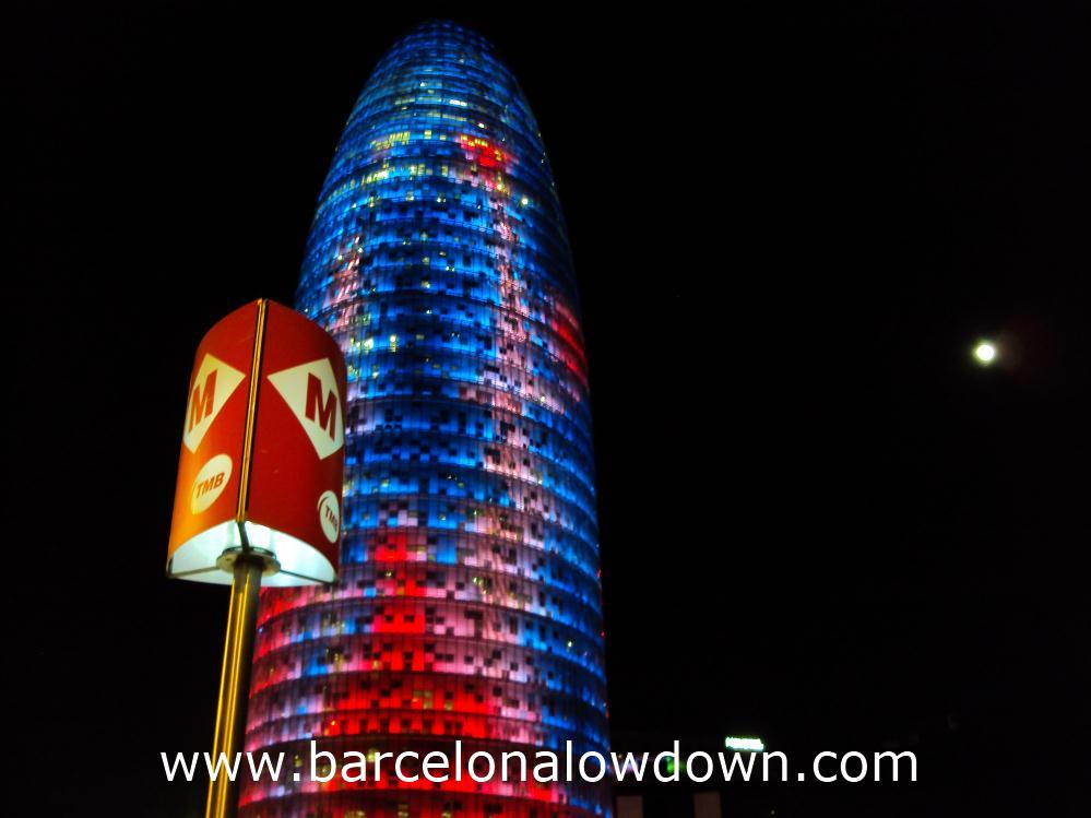Full Moon at the Torre Agbar, Barcelona