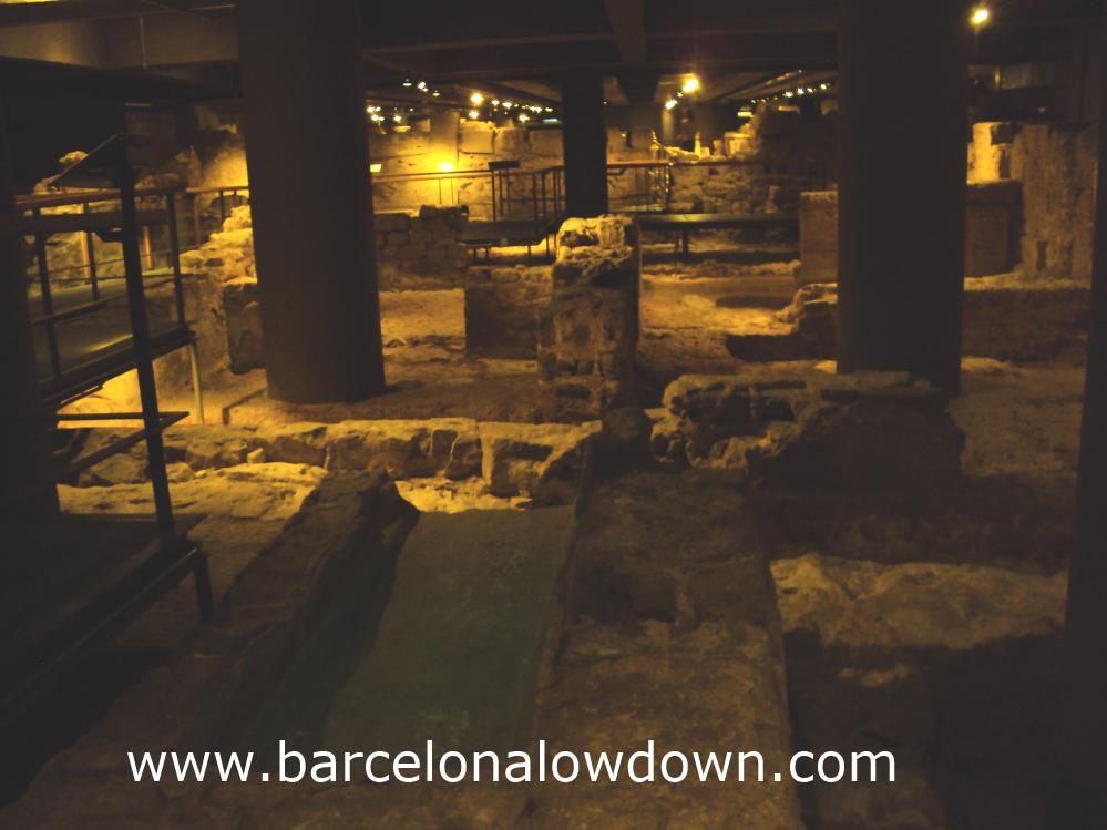 The remains of Barcino - Roman Barcelona