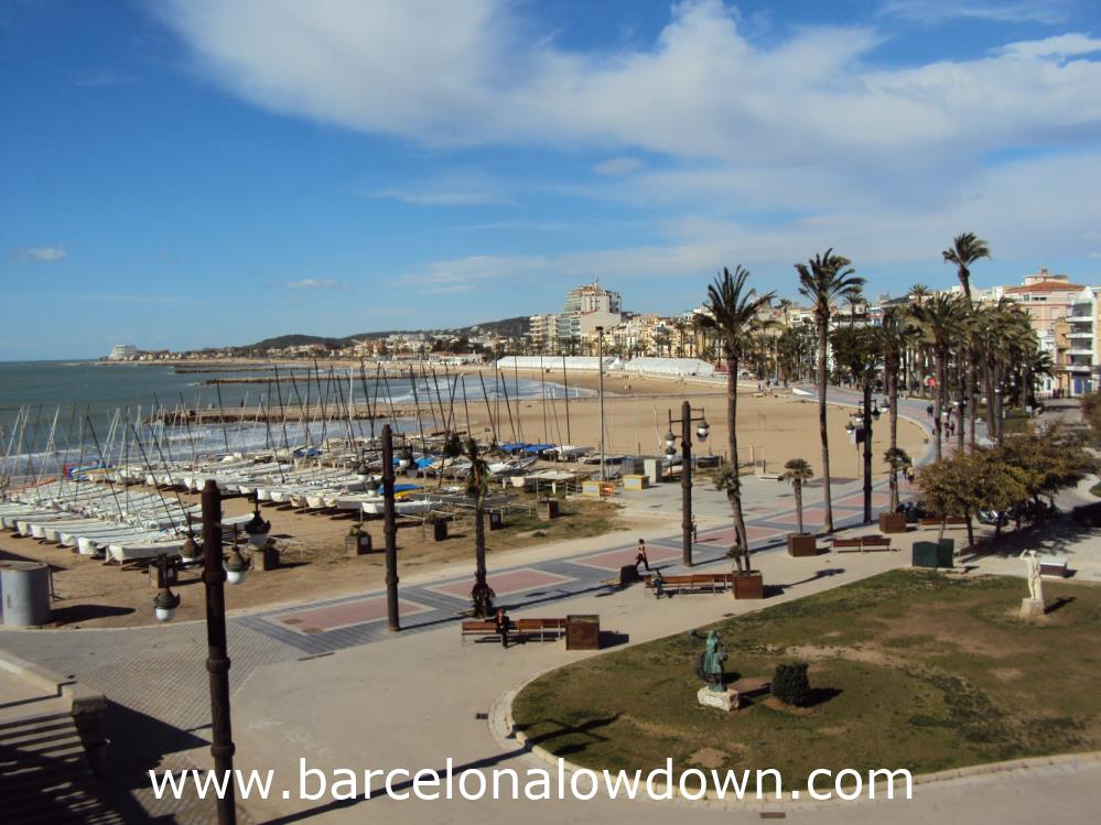 View of the Beaches at Sitges in Winter