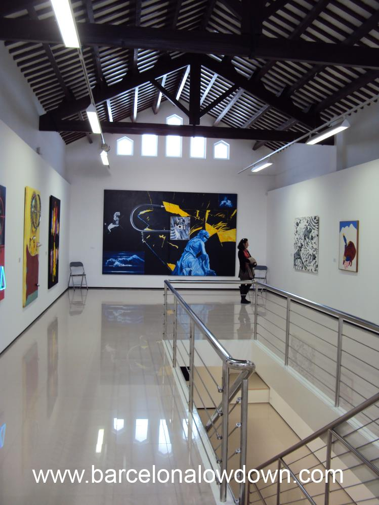 The fundacio Stämpfli Modern Art Gallery is Located in the Old Fish Market