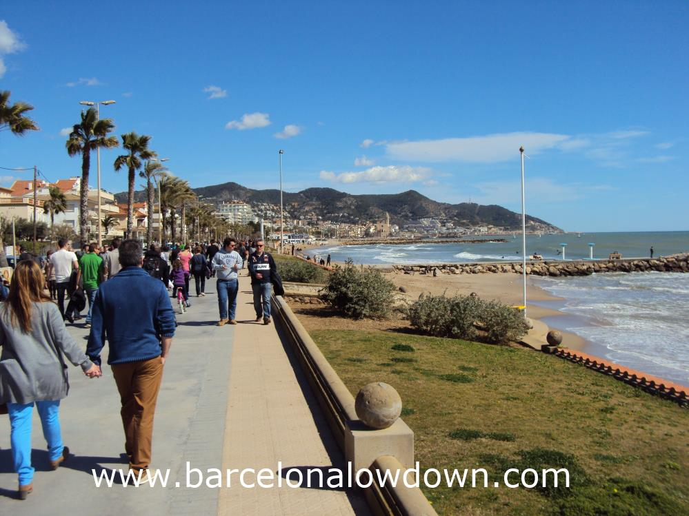 Sitges in Winter - Even in March Sitges is a Popular Day Trip From Barcelona