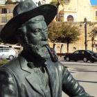 Statue of Santiago Rusiñol and Ramon Casas in Sitges