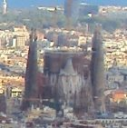 An unusual view of the Sagrada Familia from the Turo de la Rovira, Barcelona
