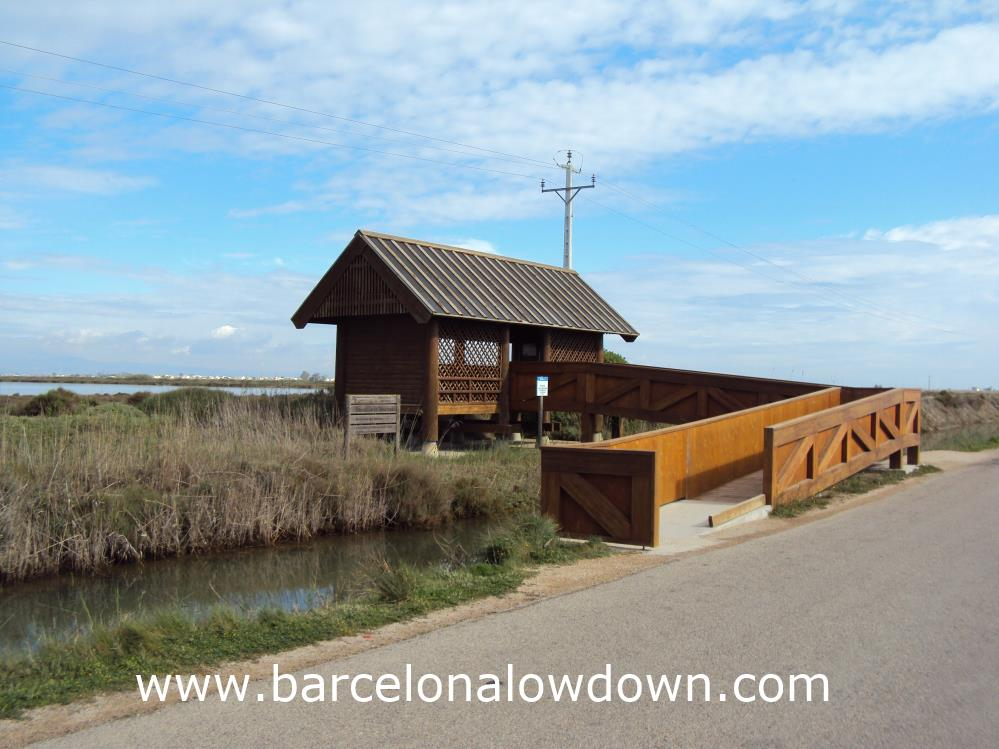One of the birdwatching Hides on the Delta de Ebro, Spain