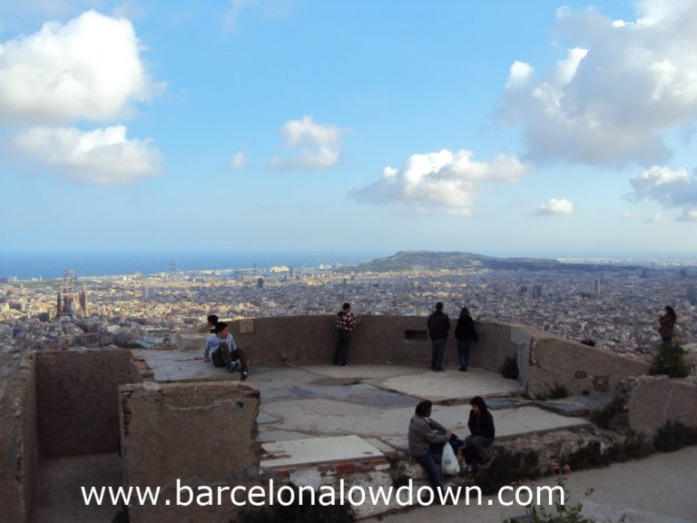 Looking south from the gun emplacements you get great views of Montjuic and the Sagrada Familia