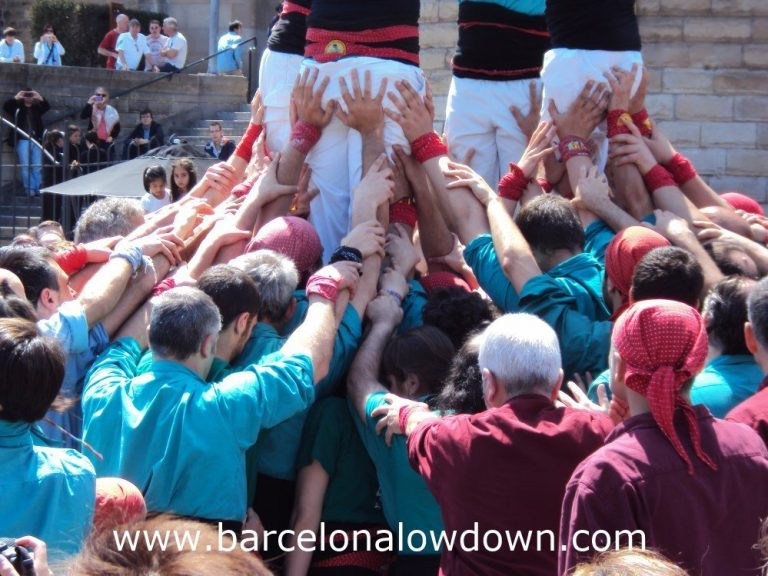 The base of a Castell human tower