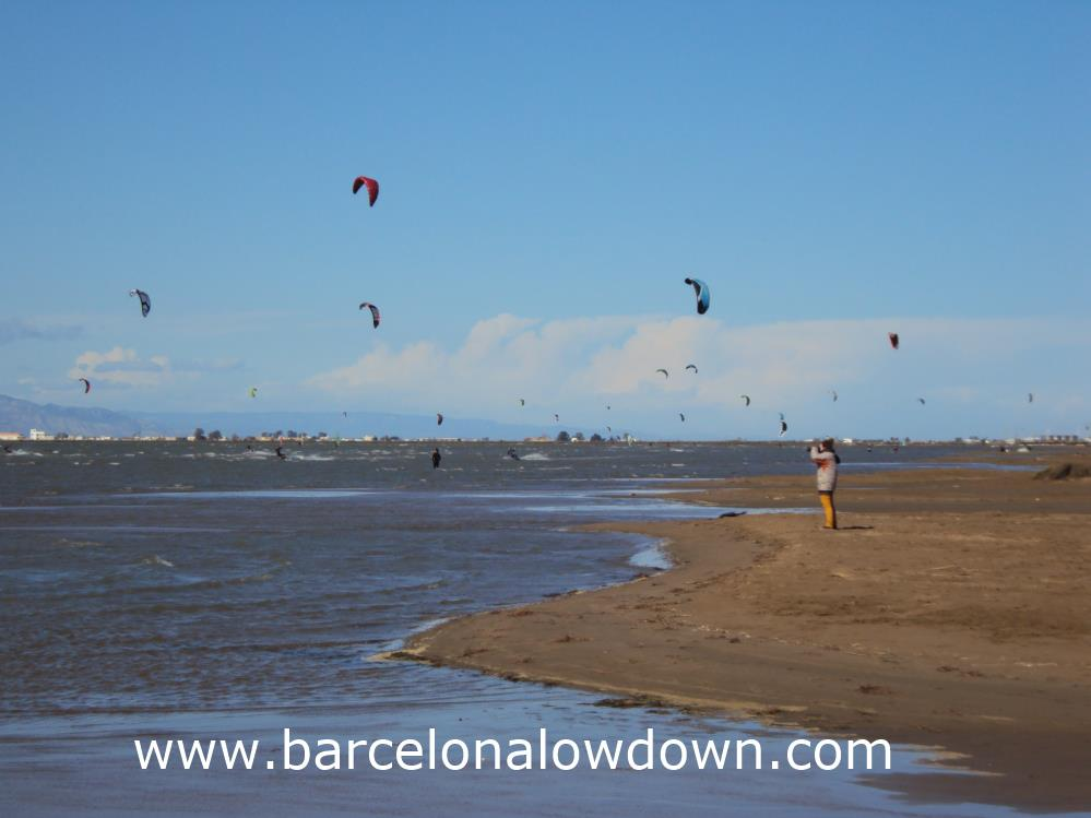 Kitesurfers at Trabucador