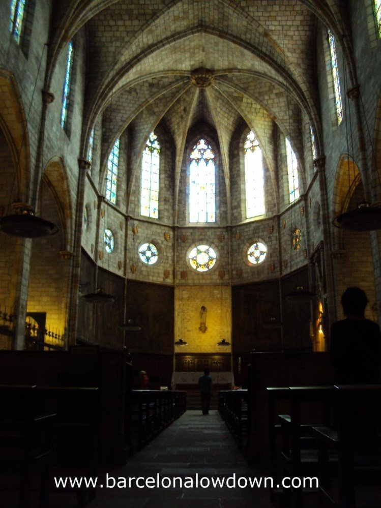 The Nave is beautifully simple and reminds me of the Bascilica de Santa Maria del Mar