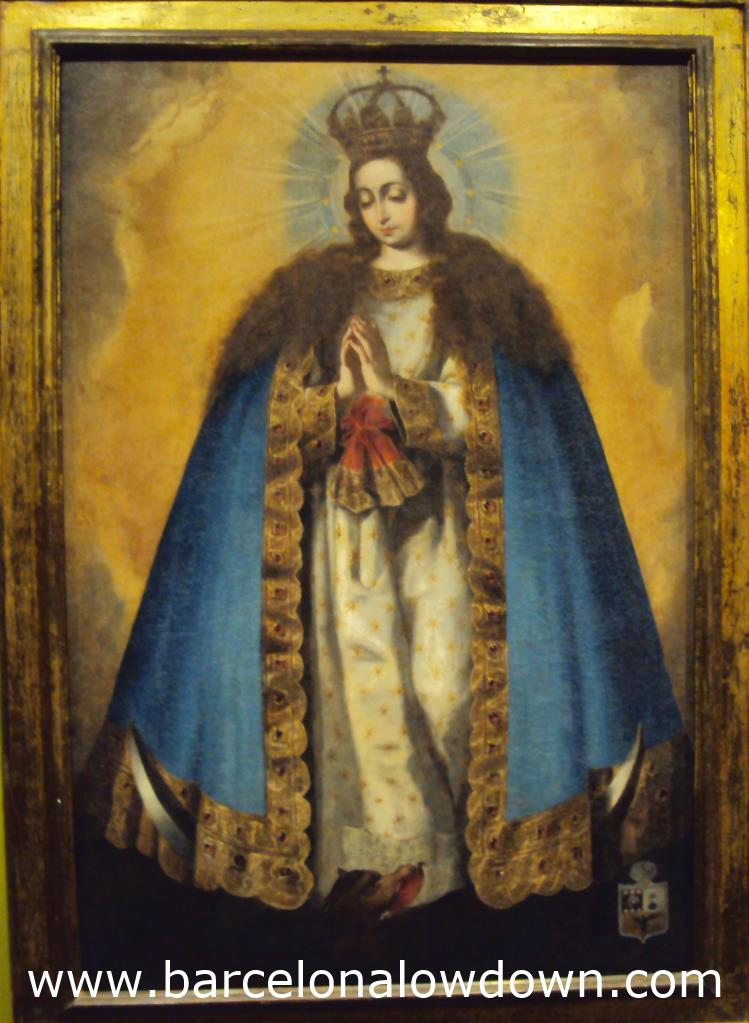 A more typical religious painting in the monastery's museum
