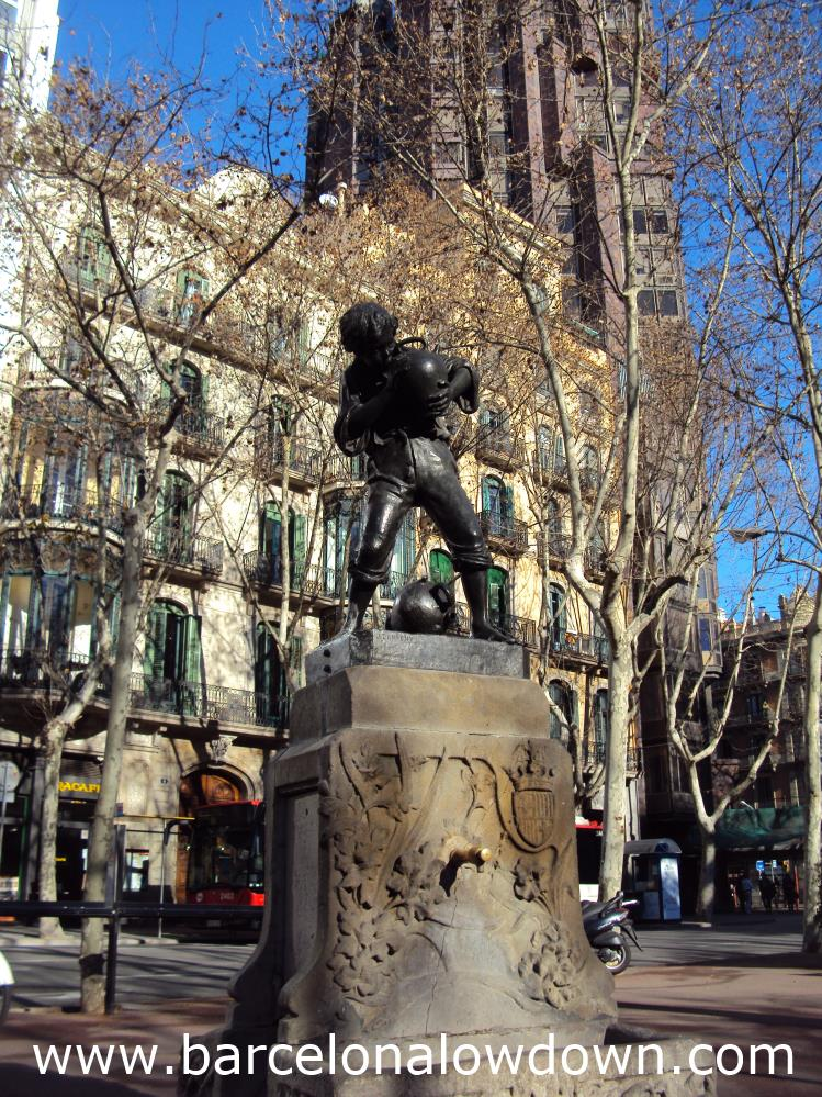"The ""Font del Noi dels Càntirs"" One of 3 Art Nouveau Fountains by Josep Campeny"
