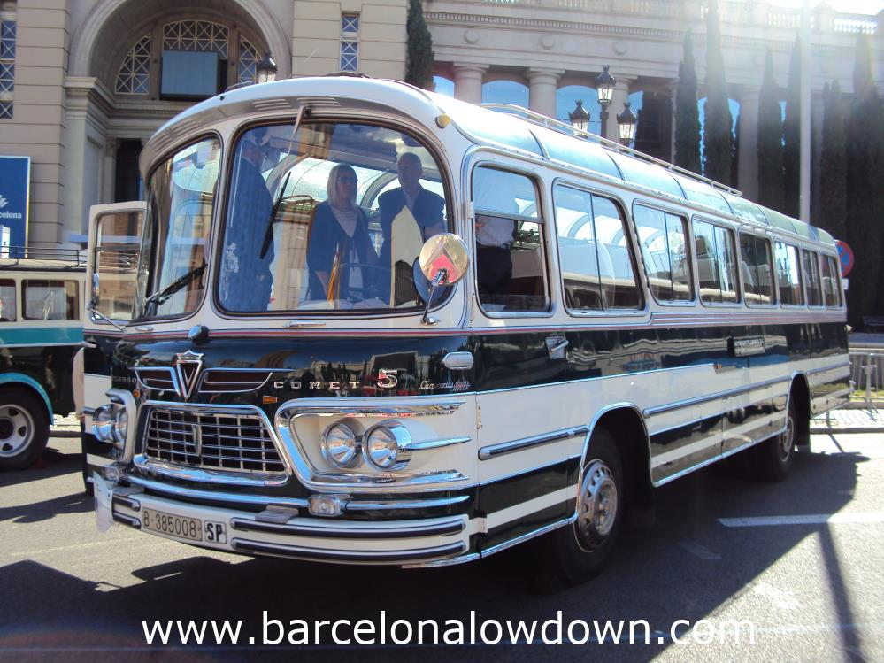 A beautiful chromed 1965 Pegaso Comet 5061 7 Pegaso Comet 5061 40 seater vintage bus.