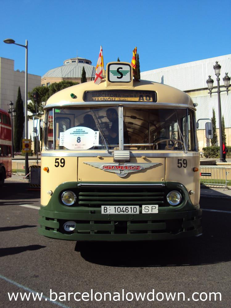 Chausson AHH-522 vintage green bus.