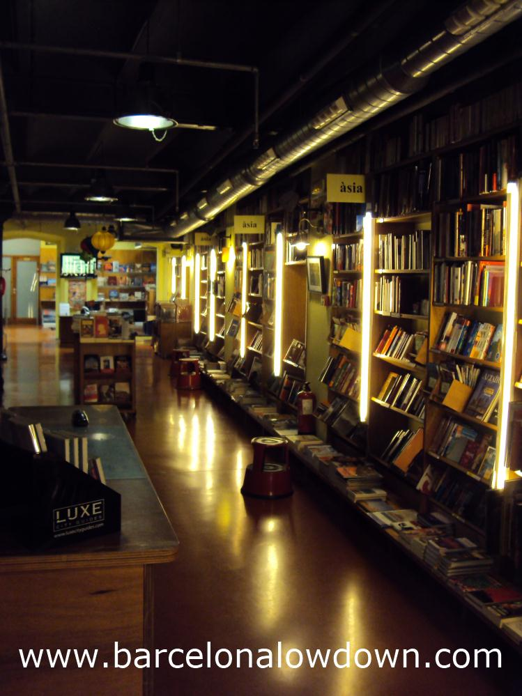 Photo taken inside the Altair travellers bookshop, Barcelona.