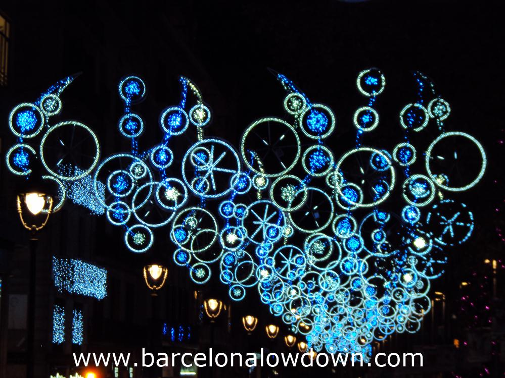 Christmas lights in Portal del Ángel central Barcelona