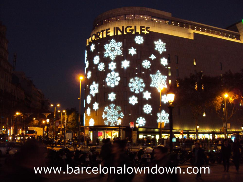 The Corte Ingles department store at Christmas