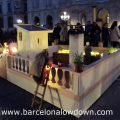 Queues at the nativity scene in Plaça Sant Jaume Barcelona
