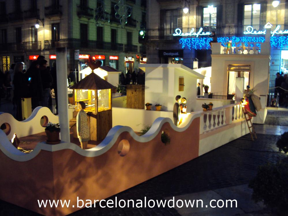 The gaiant nativity scene in front of Barcelona city hall 2013