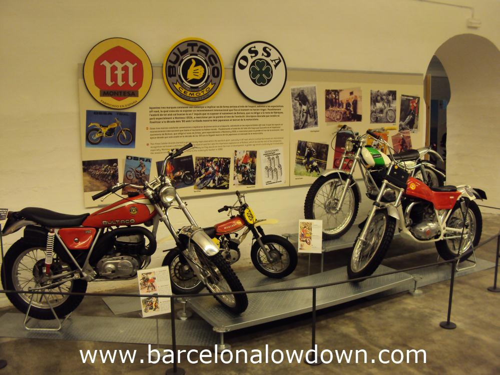 Vintage Bultaco and Montesa motorcycles
