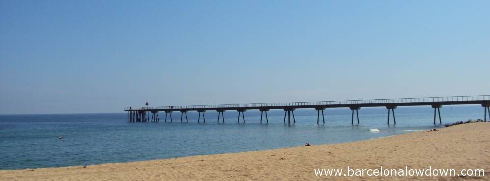 The 275m Pont del Petroli Jetty in Badalona