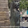 Bronze bust of Francesc Masia in Catalonia Square Barcelona