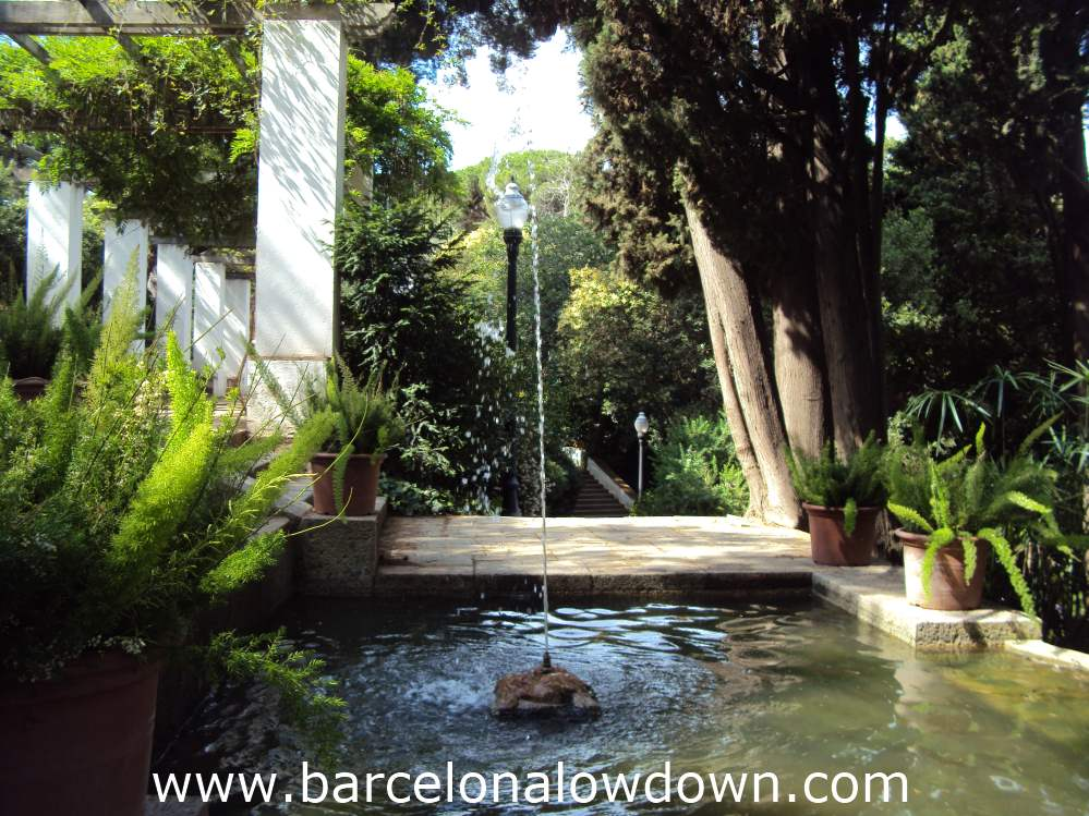 Small fountain, Laribal Gardens Barcelona