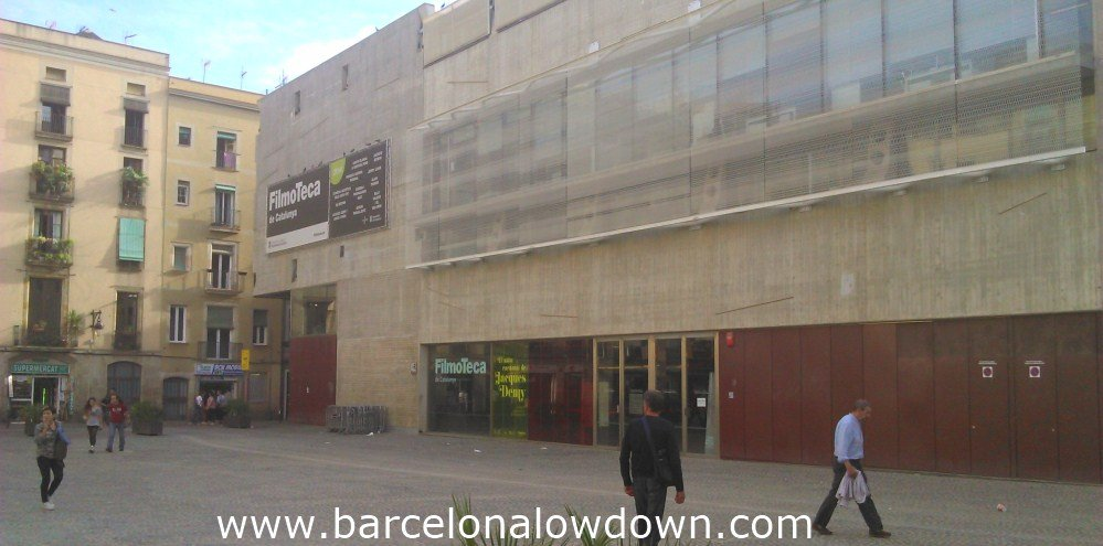 The purpose built filmoteca in the heart of Brcelonas Raval neighbourhood.
