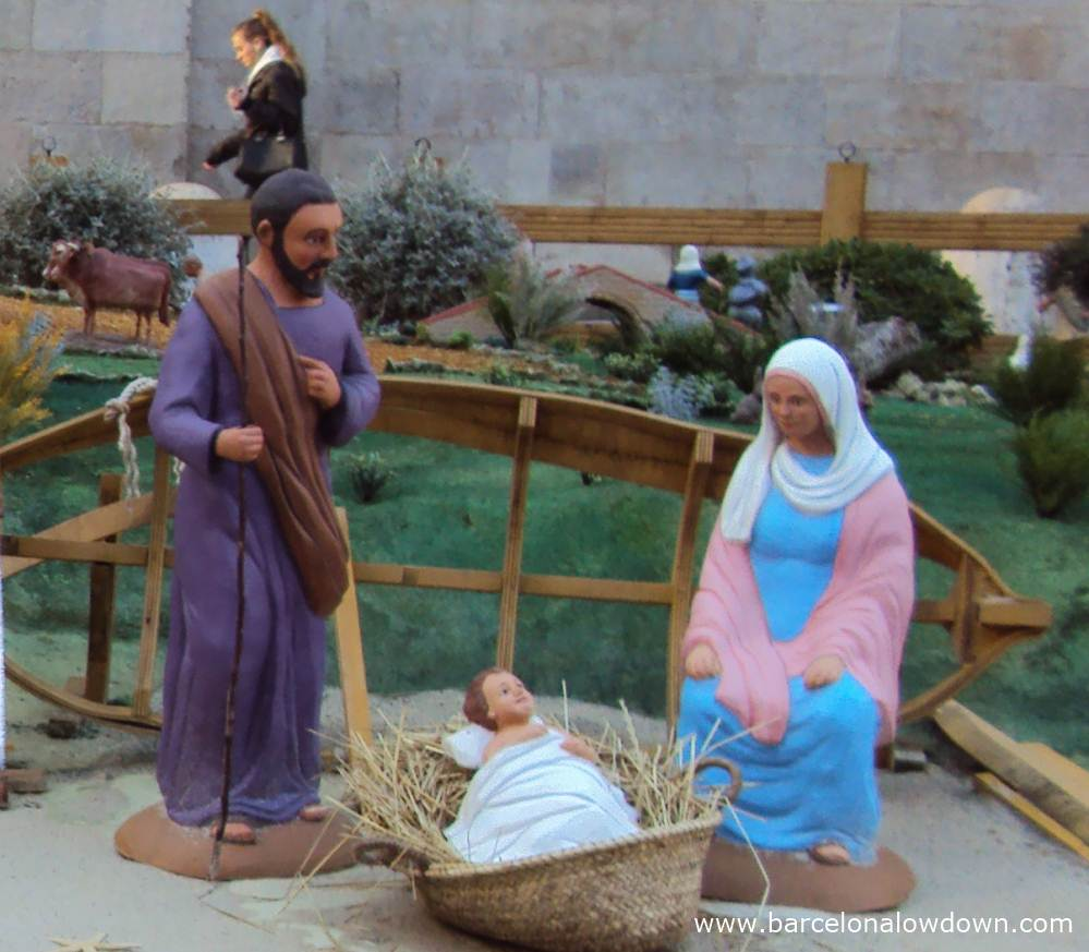 A Giant nativity scene Barcelona