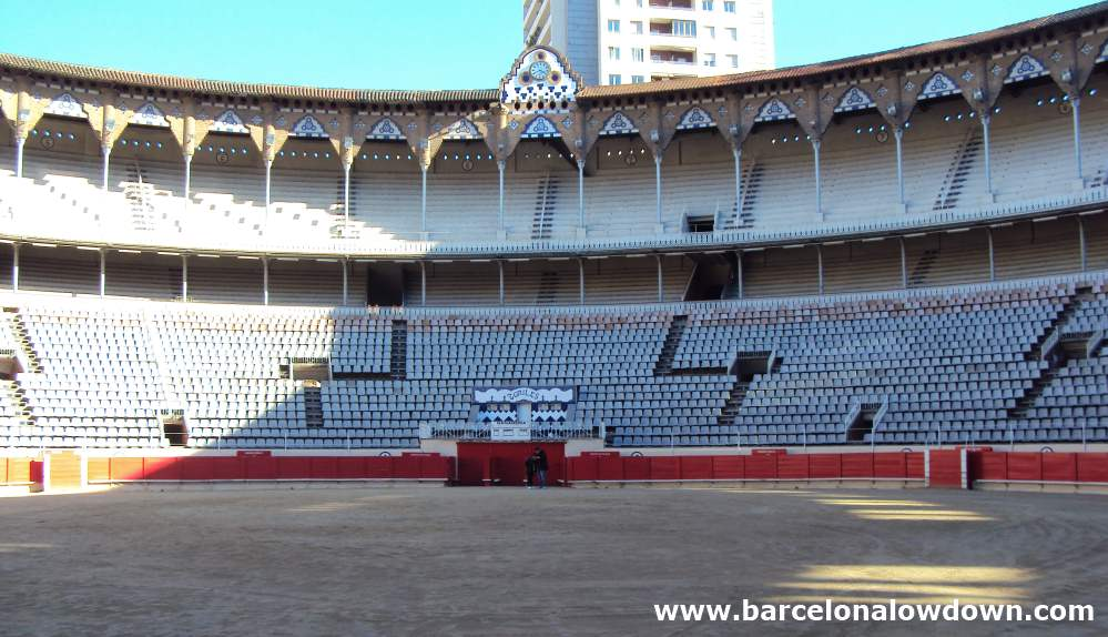 Photo taken at ground level in Barcelonas La Monumental bullfighting ring