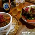 Bowls of delicious vegetarian food in La Báscula vegetarian restaurant Barcelona