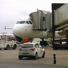Easyjet Airplane at Barcelona Airport Spain