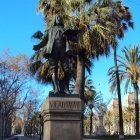 A Bronze statue of Antoni Viladomat in Barcelona