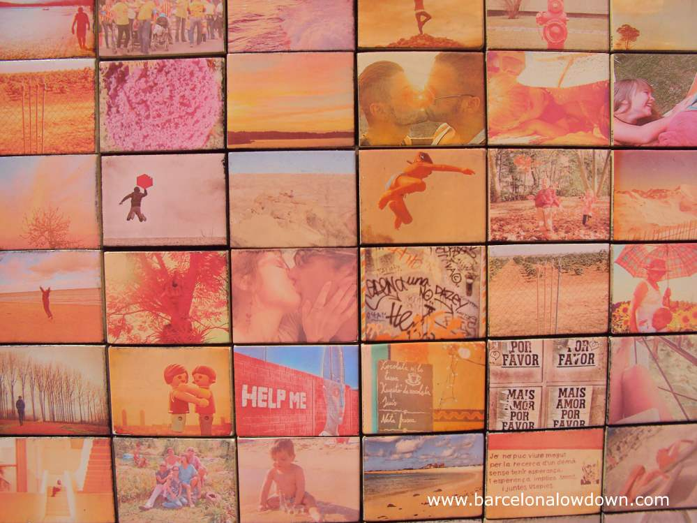 30 tiles with photos sent in by the residents of Barcelona. Each photo represents someones idea of a moment of freedom