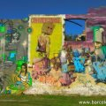 Colourful graffiti near Avenida Diagonal in the Poblenou neighbourhood of barcelona