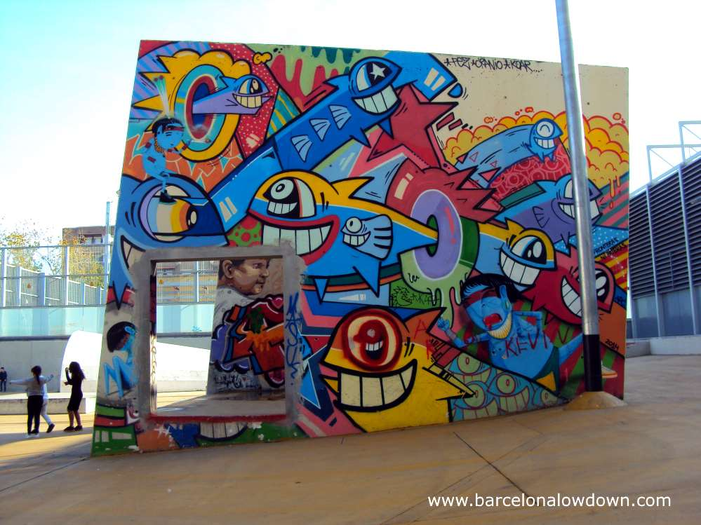 Colourful street art at Barcelona's legal graffiti parks