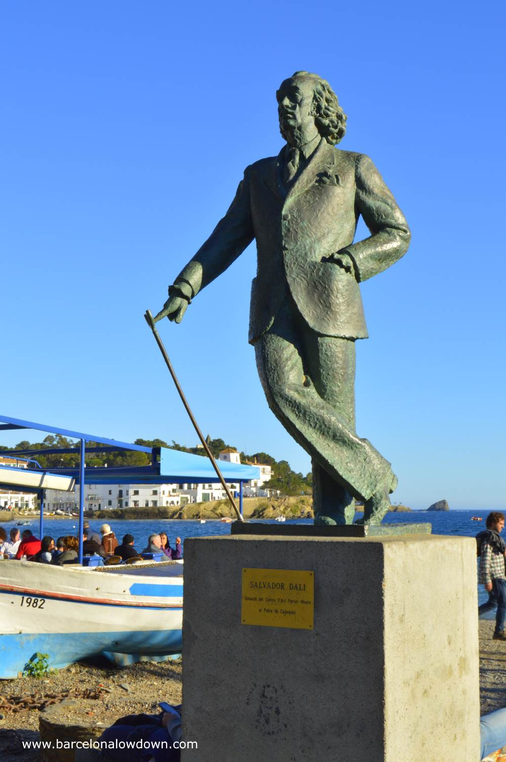 Bronze statue of Salvador Dalí which was donated to the town of Cadaqués