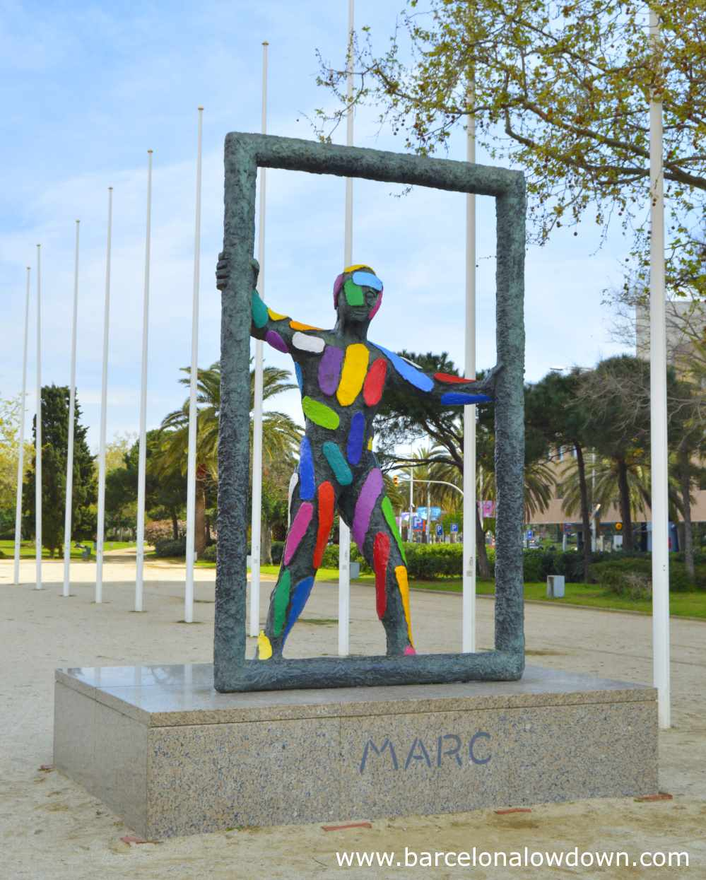 Statue of Marc in the 1992 Olympic Village, Barcelona
