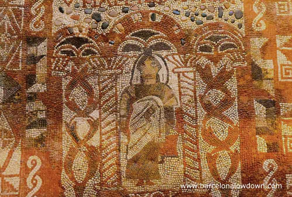 Roman Mosaic in the Municipal Museum of Tossa de Mar