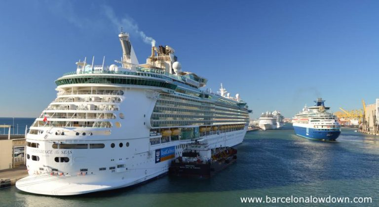 Early morning at the Moll Adossat pier, Barcelona cruise terminals A to D