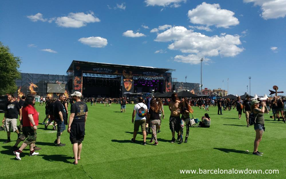 A typically sunny day at Barcelona's heavy metal Rock Festival