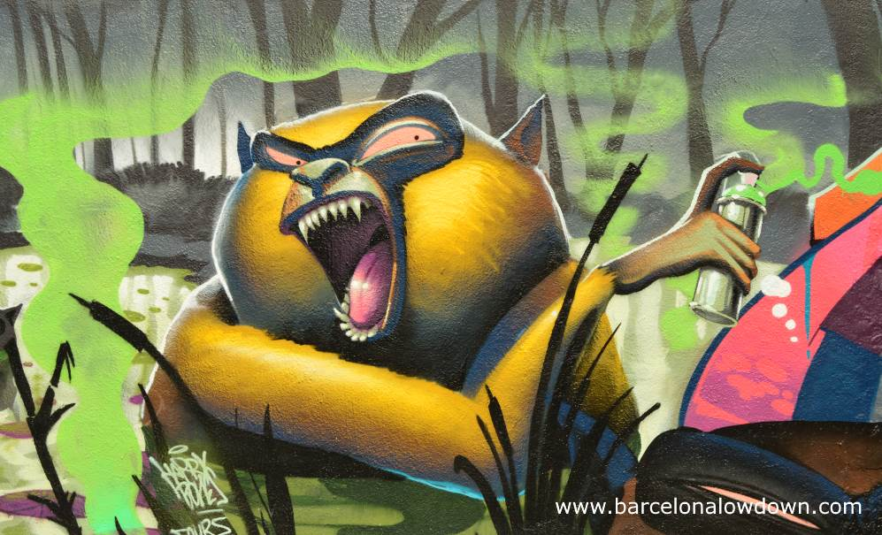 Discover the Awesome Graffiti and Street Art of Poblenou