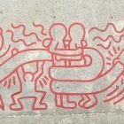 Keith Haring's anti AIDS mural in Barcelona