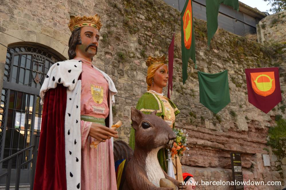 Giants which are used in processiones in Manresa medieval fair