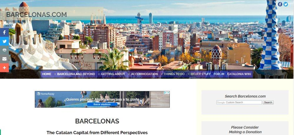 Screenshot of the Barcelonas website by Simon