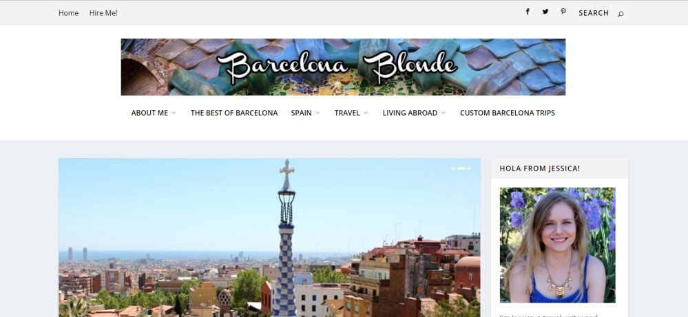Barcelona Blonde Blog homepage
