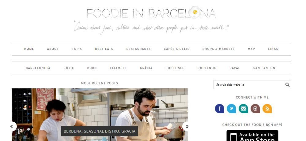 Foodie in BCN - one of the top Barcelona food blogs
