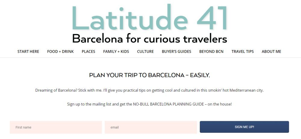 Latitude 41 one of the best Barcelona blogs